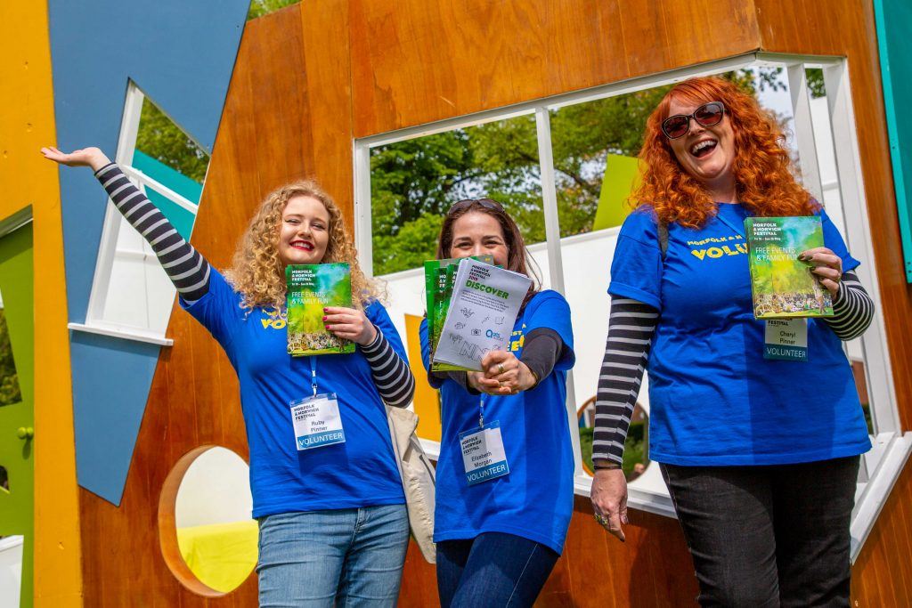 Volunteers at the Norfolk and Norwich Festival 2019
