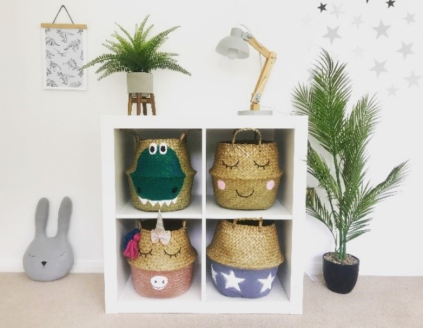 Bellybambino-baskets-in-Ikea-storage-unit-the-power-of-an-image